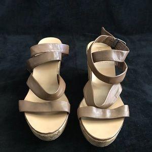 J Crew women's platform ankle strap sandals size10